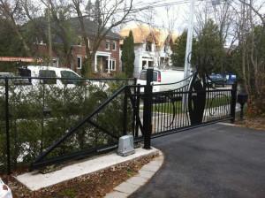 Ornate sliding gate