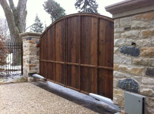 residential slide gate wooden