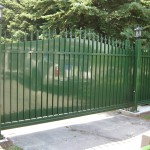 residential slide gate green