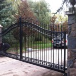 residential swing gate black