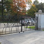 residential gate black